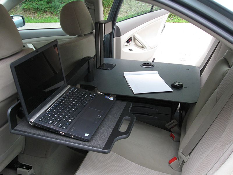 An Ergonomic Solutions Sit Stand Cargo Desk Installed In A Chevy Malibu Goergo Mobile Office Ideas For Cars Trucks Vans Pinterest