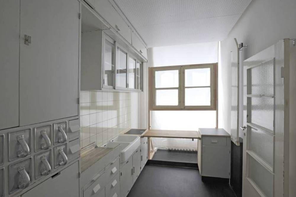 Die frankfurter küche in der schausammlung des werkbundarchivs museum der dinge stammt aus