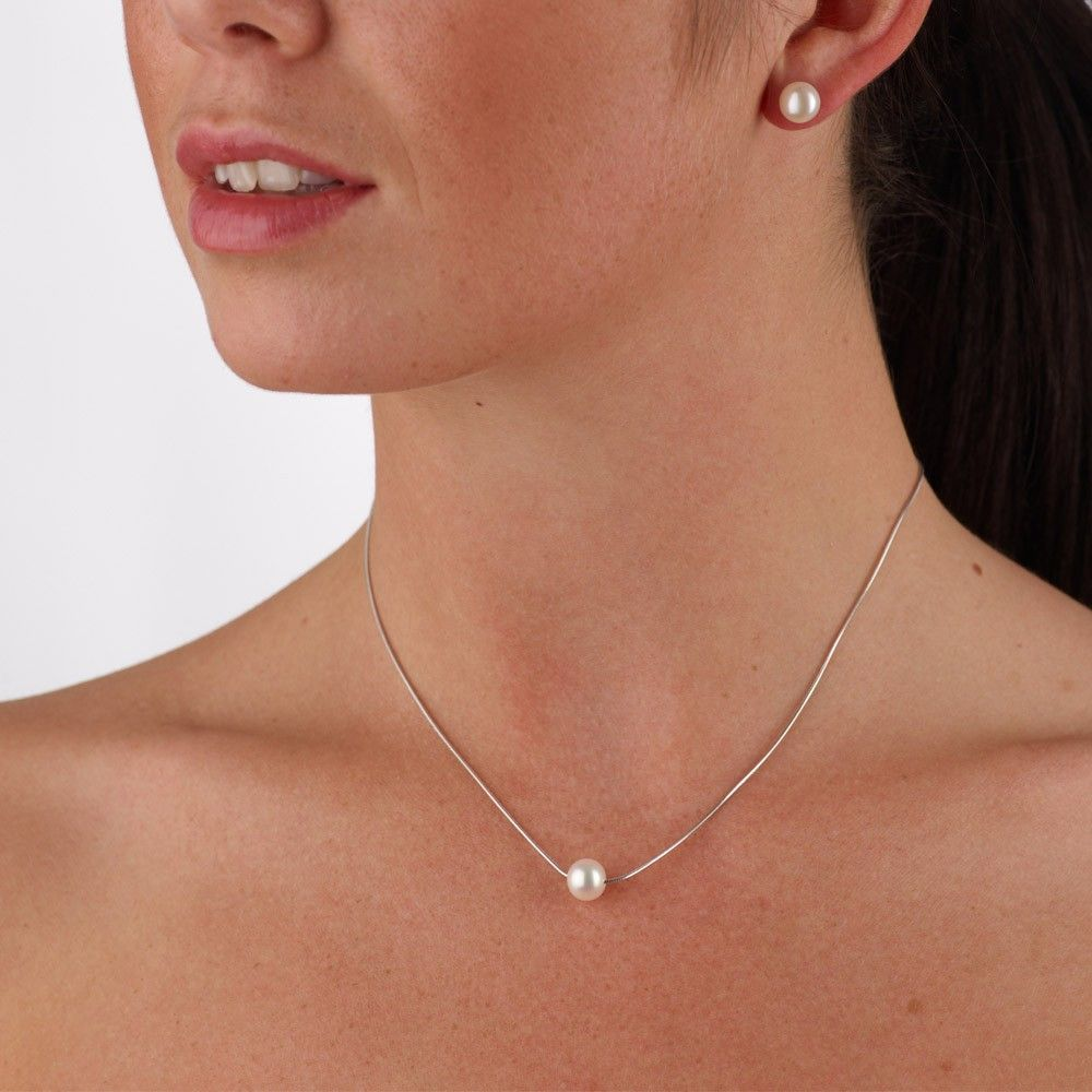 Single Pearl Necklaces  Google Search