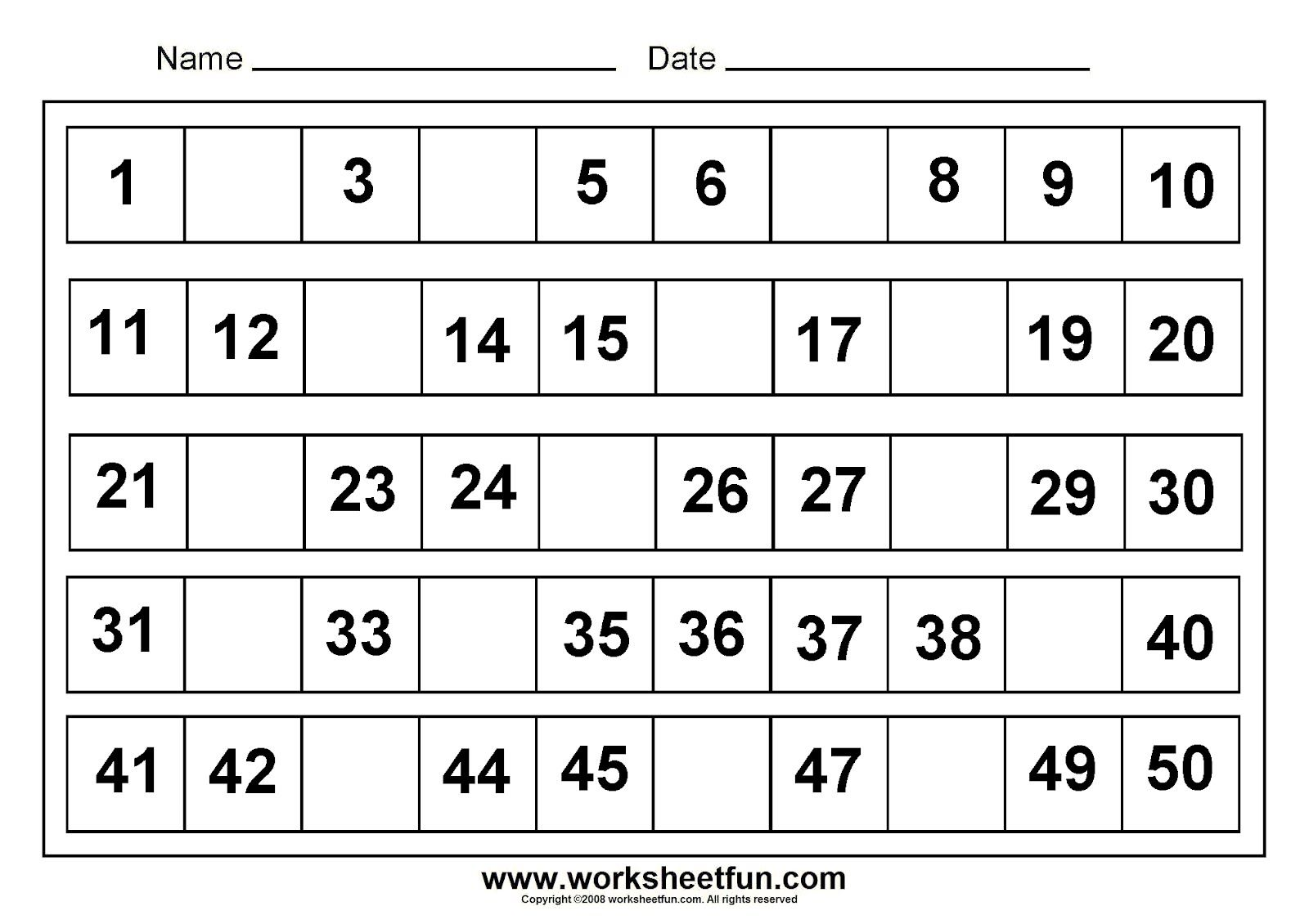 Kids Math Printable Worksheets Chapter 1 Worksheet