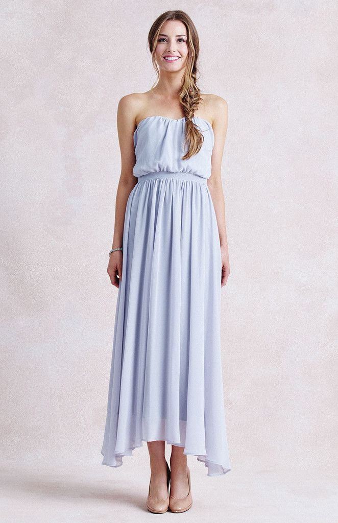 strapless light blue boho dress - Dresses to Wear to a Summer Wedding { included Evening Dresses } itakeyou.co.uk