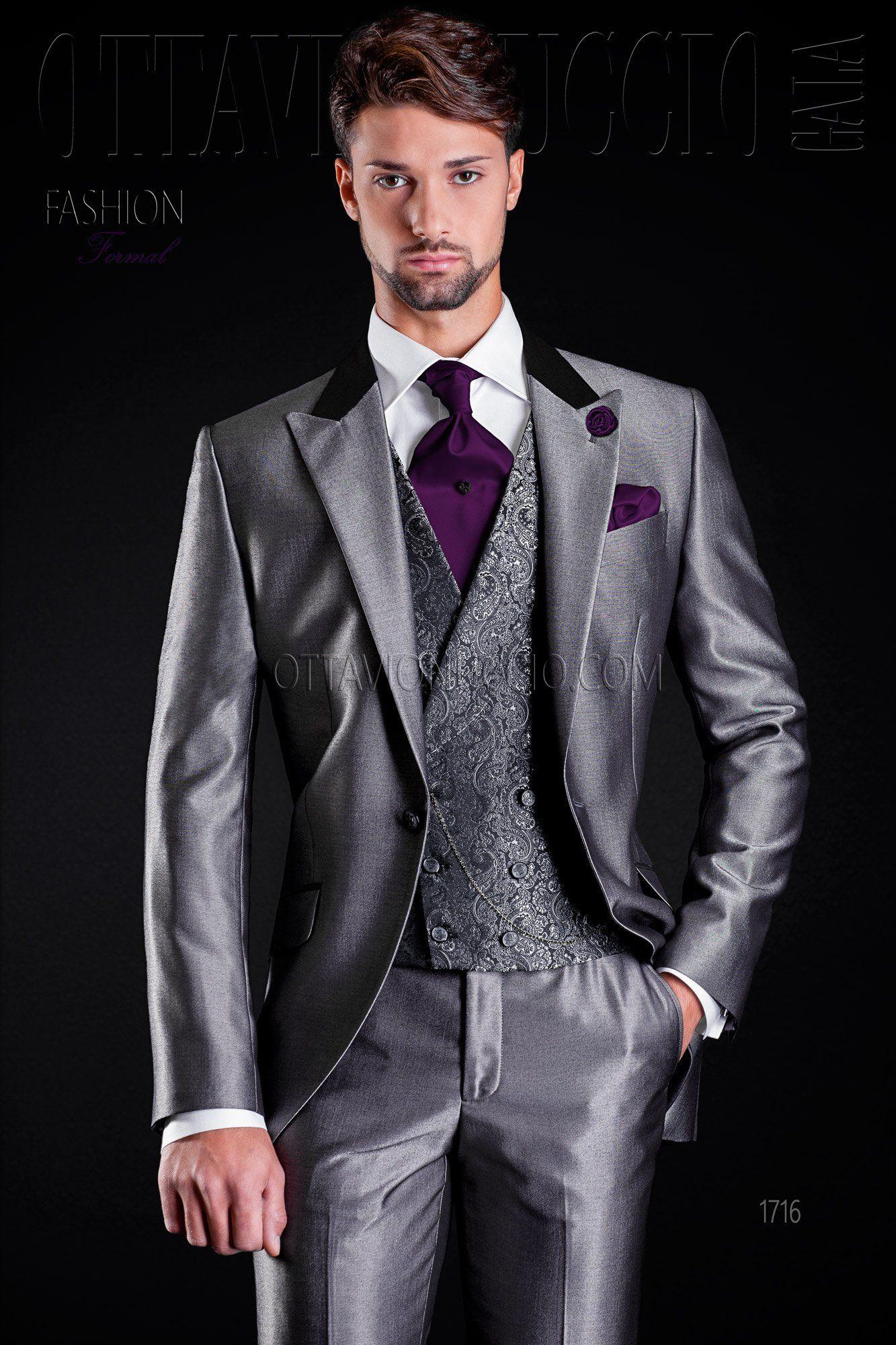 Wedding suit grey with satin collar  groom  tuxedo  luxury  menswear   dapper  menstyle  madeinitaly 2b9ebbb94864