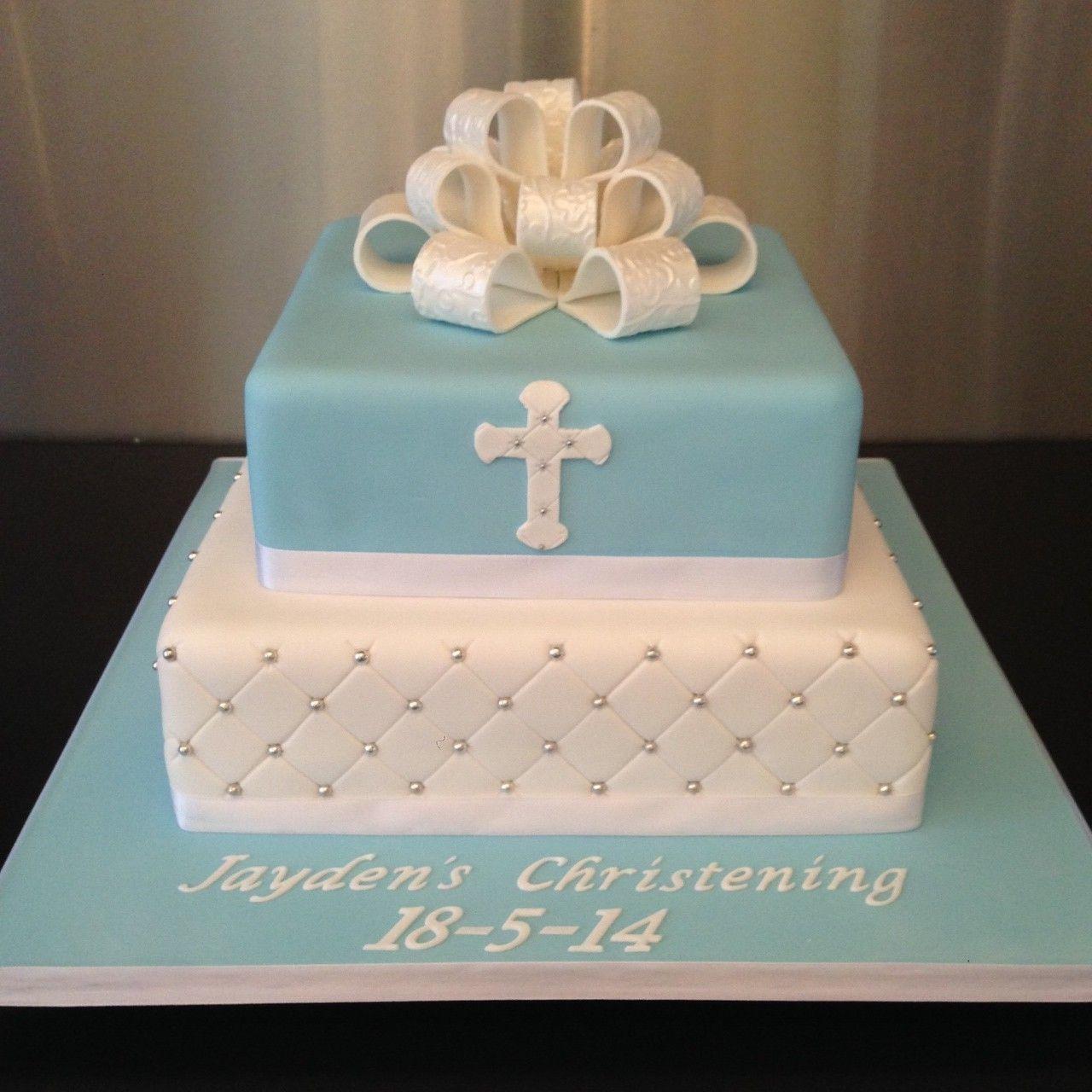 Girl Christening Cake Square