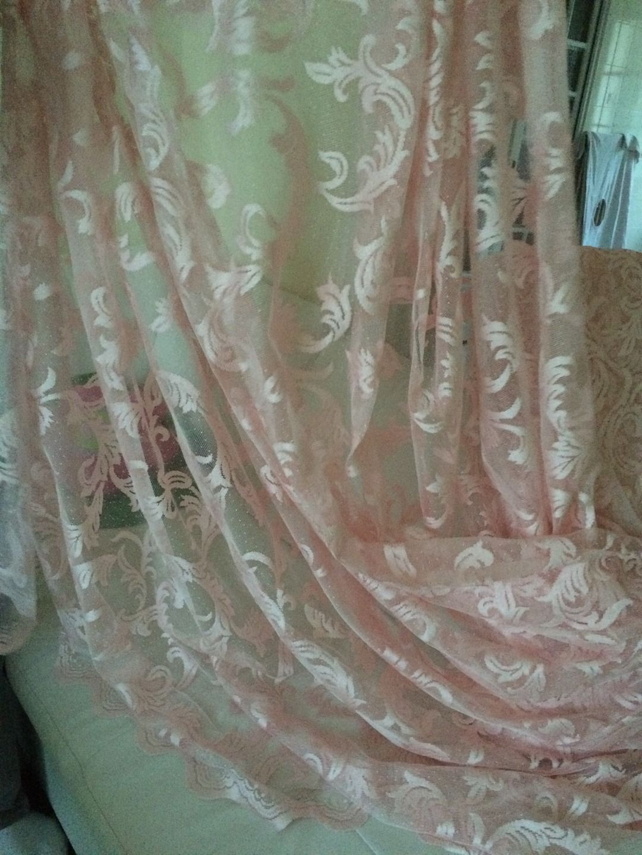 Voilages couleur rose 280 hauteur : Tissus pour rideaux, voilages ...