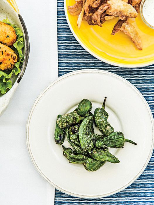 A plate of fried Padrón peppers at Restaurante Museu do Arroz, a buzzy dinner spot with wonderful fresh seafood. 351-265-497-555; entrées from $19.