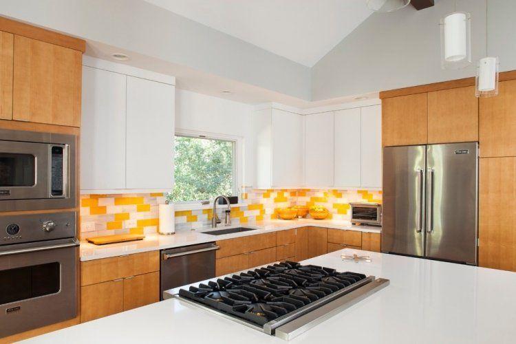 Plan de travail cuisine en blanc- quartz ou Corian? | Cuisine | Plan ...