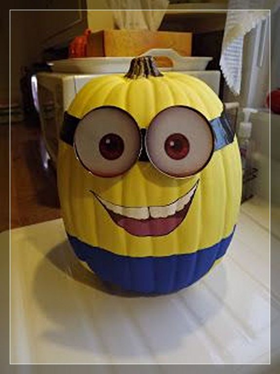 minion pumpkins painting carving from despicable me snappy pixels