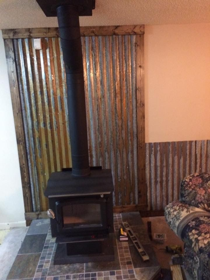 Stove With Trim Installed Wood Stove Hearth Wood Stove Chimney
