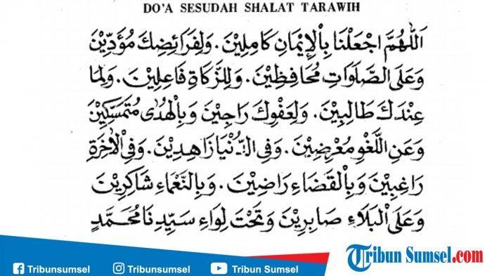Bacaan Doa Setelah Sholat Tarawih Dan Witir Lengkap Bahasa Arab Latin Dan Terjemahan Indonesia Tribun Manado Doa Bahasa Membaca