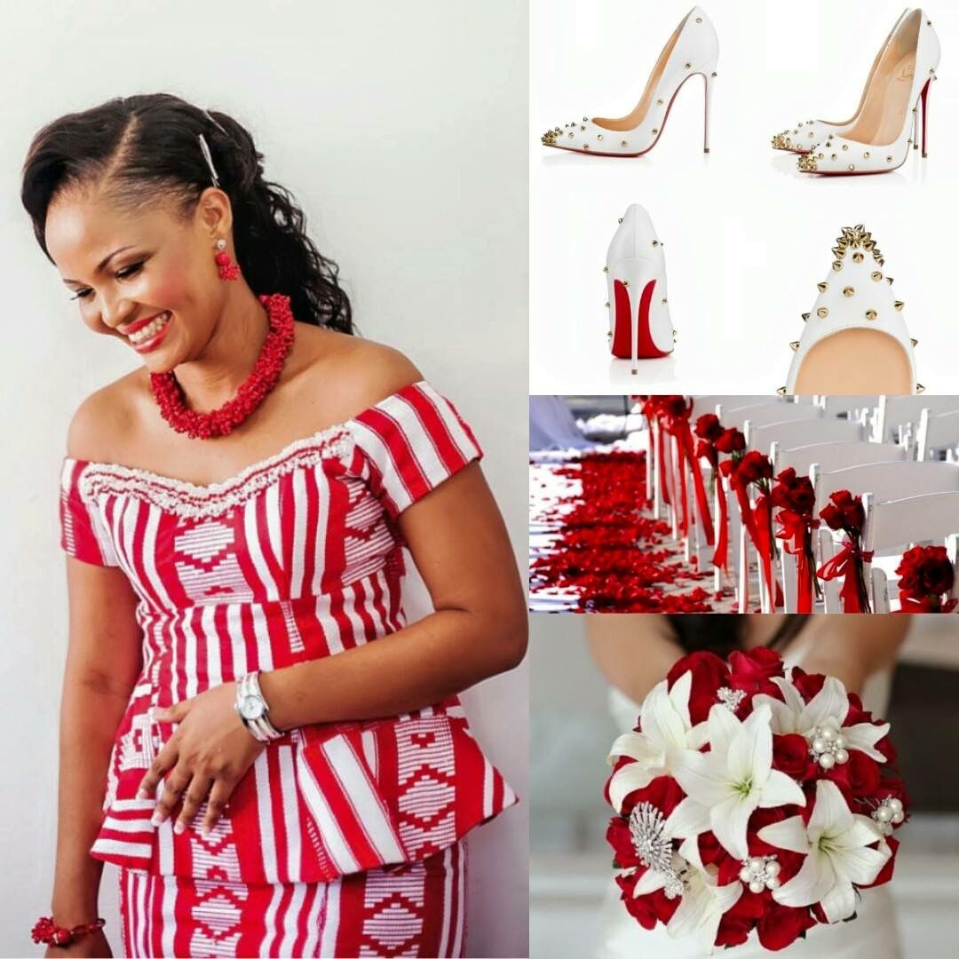 Red And White Palette African Fashion Traditional African Traditional Dresses African Traditional Wedding Dress [ 1080 x 1080 Pixel ]