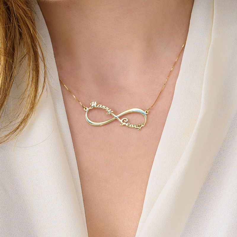 10k Yellow Gold Infinity Name Necklace Gold Diamond Necklace Diamond Cross Pendants Diamond Cross Necklaces
