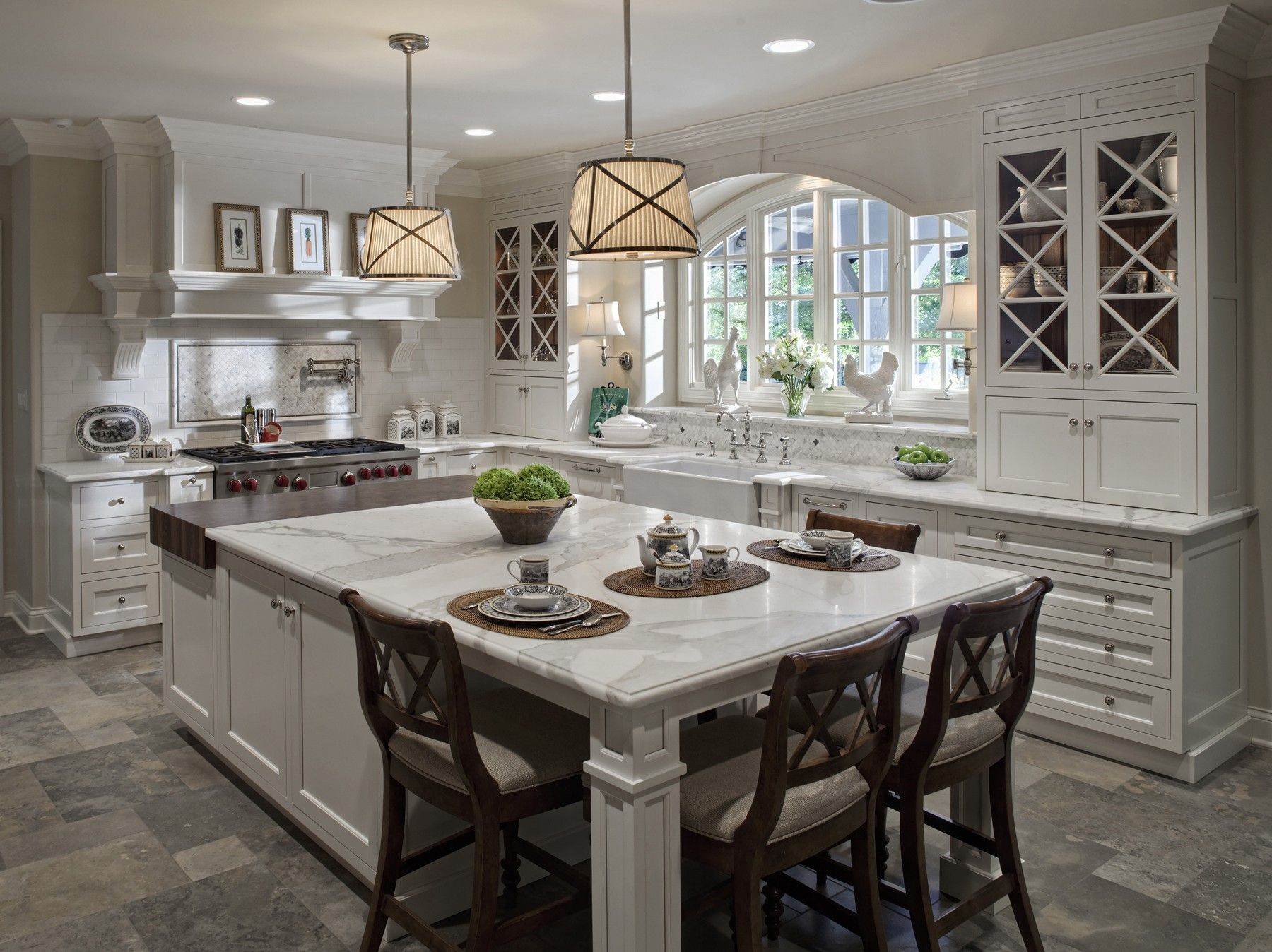 Kitchen:Amazing Design Ideas Of Traditional Kitchen With Rectangle
