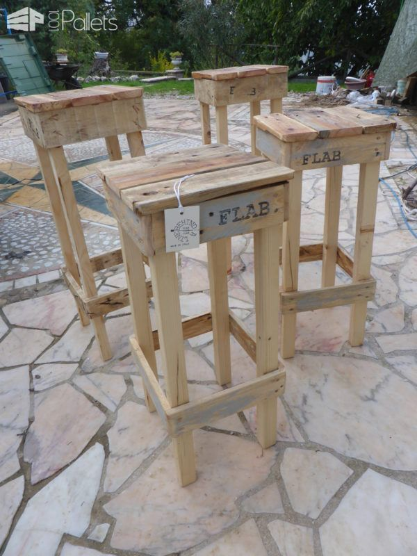 Quick Easy Pallet Stools Fit Any Style Benches Chairs