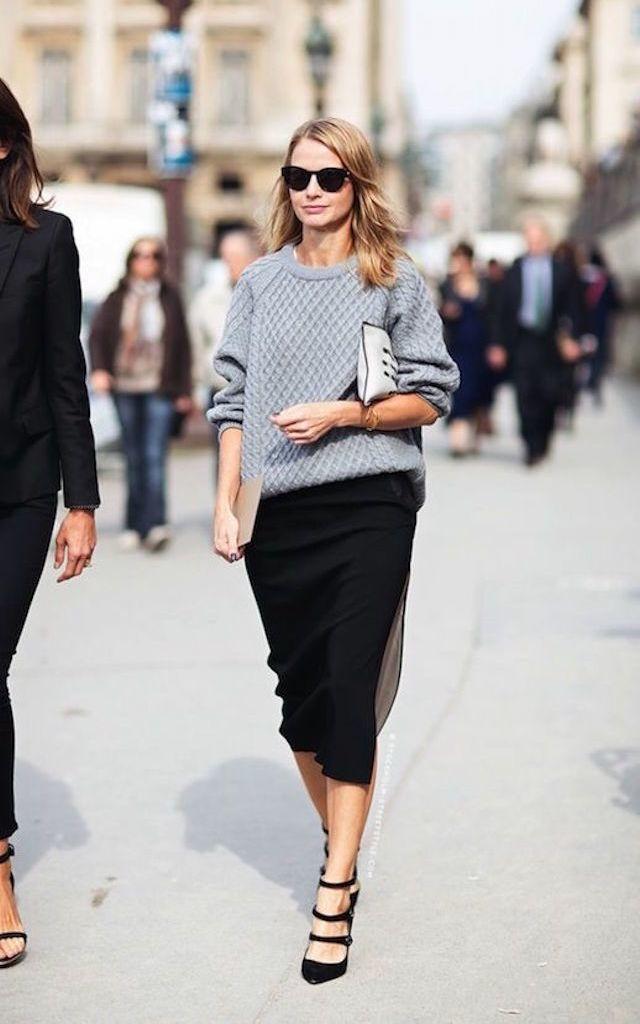 c5ac4e4431 10 Ways to Wear a Slouchy Sweater   Style   Fashion, Autumn street ...