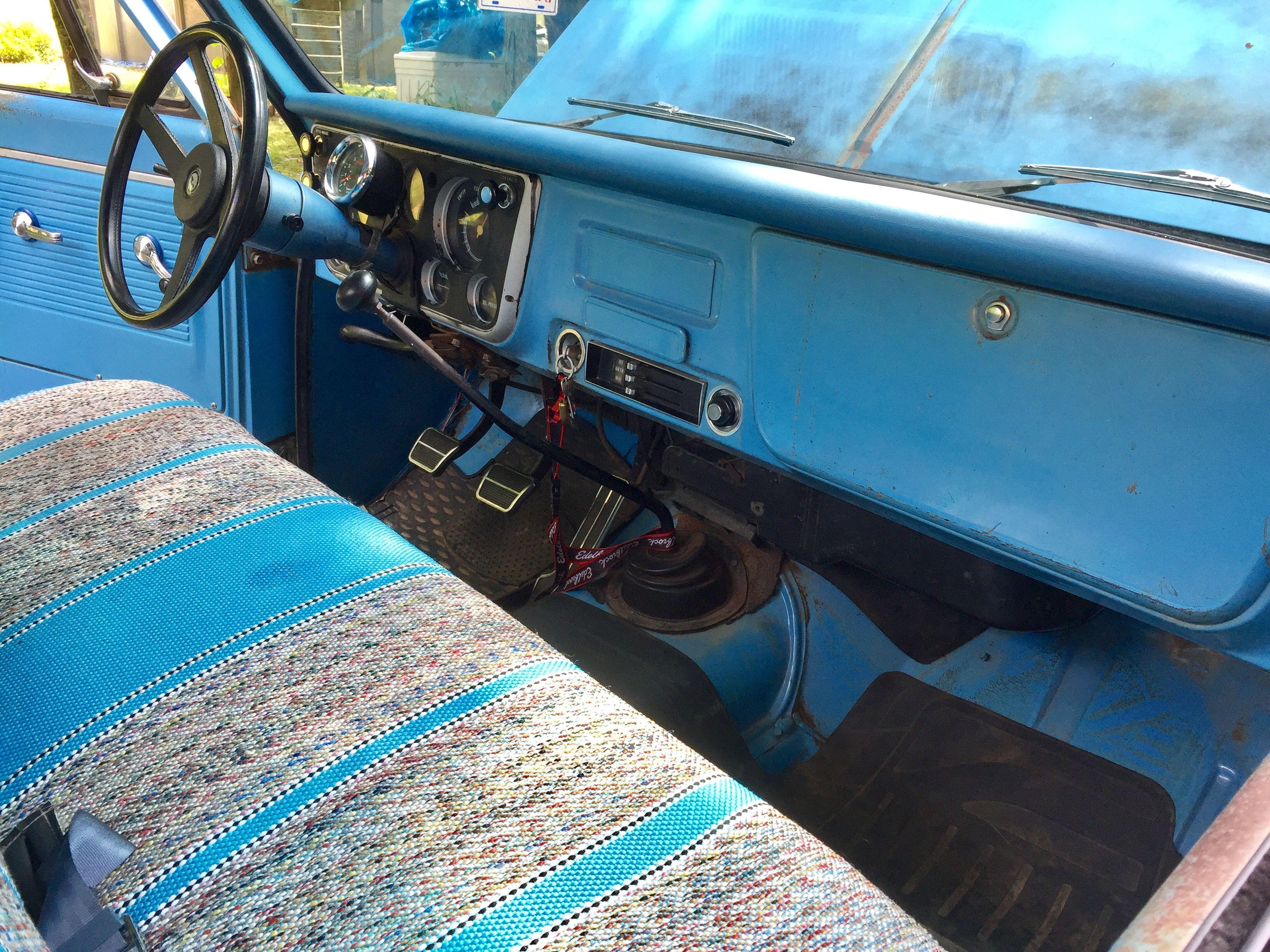 Interior of my 1968 Chevrolet C10  Almost all original  Small Block