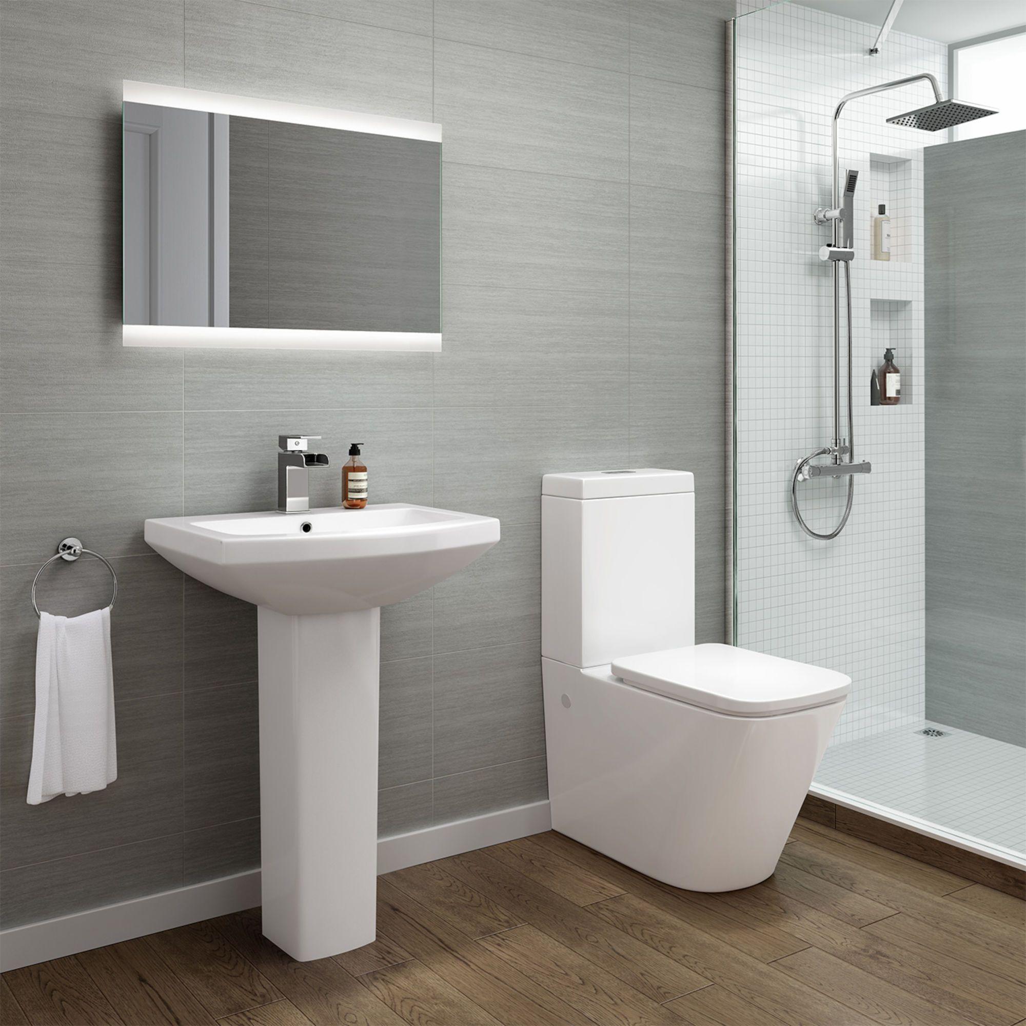 Florence Close Coupled Toilet Pedestal Basin Set Soak Com