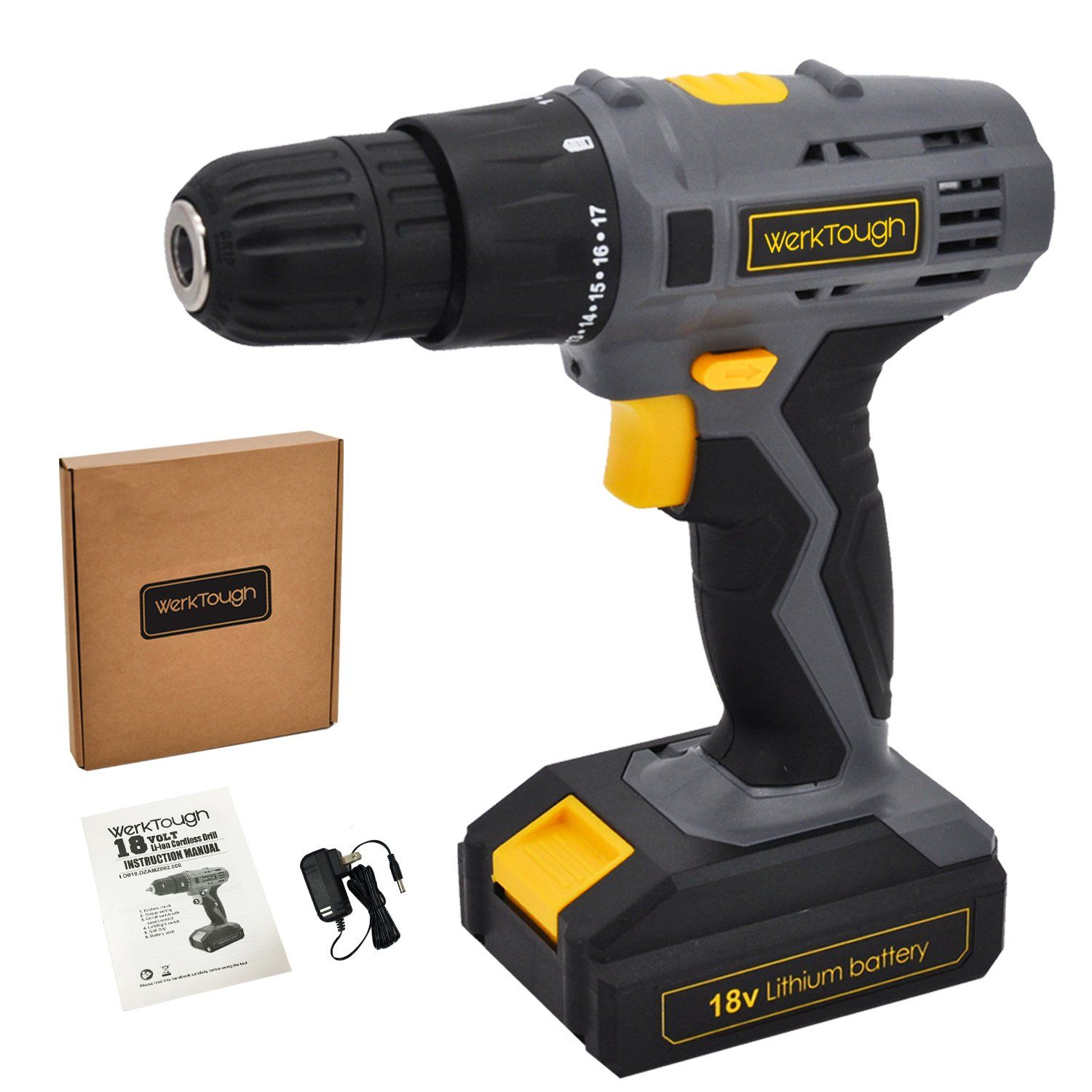 Werktough D018 18v Cordless Drill Driver Powerful Screwdriver Lion Battery With Charger Find Out More At The Photo W In 2020 Cordless Drill Drill 18v Cordless Drill