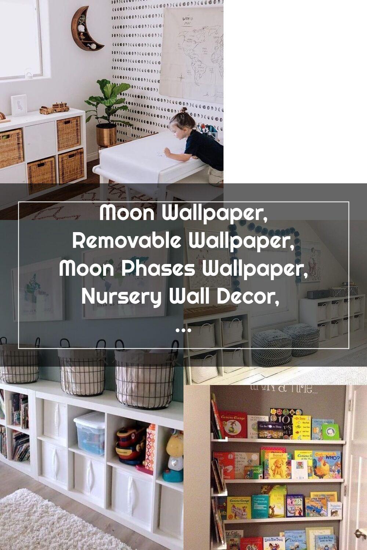 Moon Wallpaper Removable Wallpaper Moon Phases Wallpaper