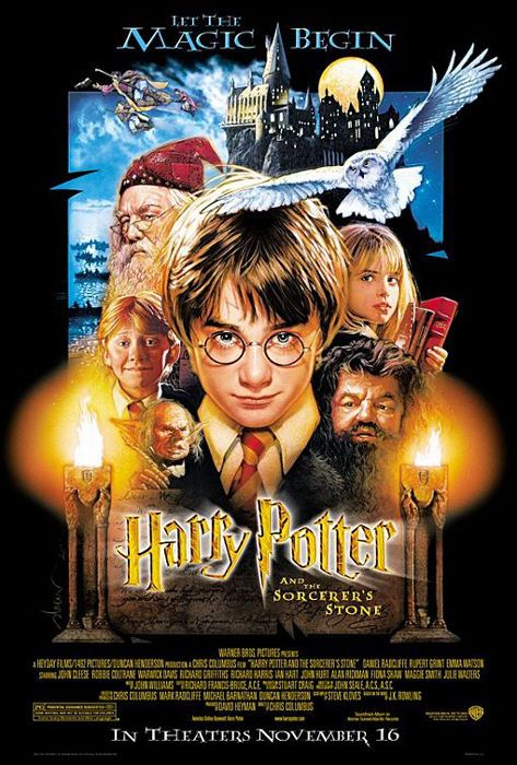 Harry Potter And The Sorcerer S Stone Movie Poster Regular 27 X 40 Ebay Harry Potter Movie Posters Harry Potter Movies The Sorcerer S Stone
