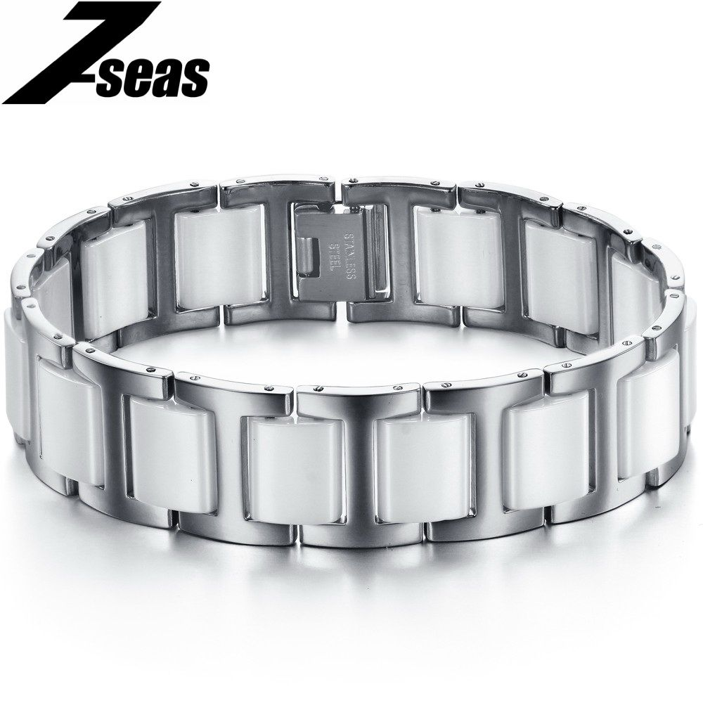Luxury Black Ceramic Bracelets& Bangles Personalized Embedded ...