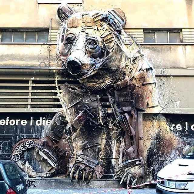 streetartnewsSomething new from Bordalo II in Turin, Italy #streetart @b0rdalo_ii