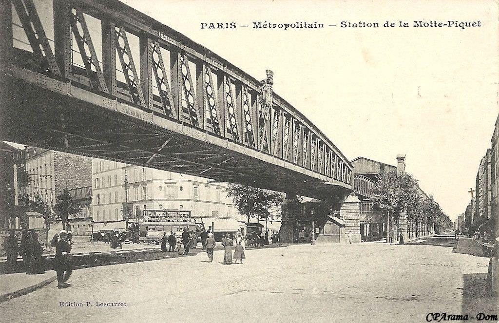 Paris Metropolitain Metro Paris Station La Motte Picquet Grenelle Metro Paris Paris Photos Anciennes