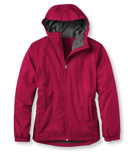 Women S Discovery Rain Jacket Fleece Lined At L L Bean Rain Jacket Jackets Rain Jacket Women