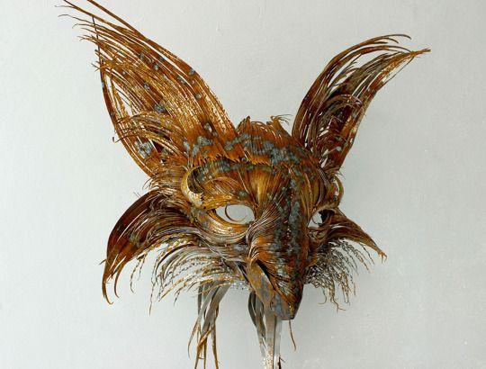 Hammered Steel Animal Head Sculptures by Selçuk Yılmaz