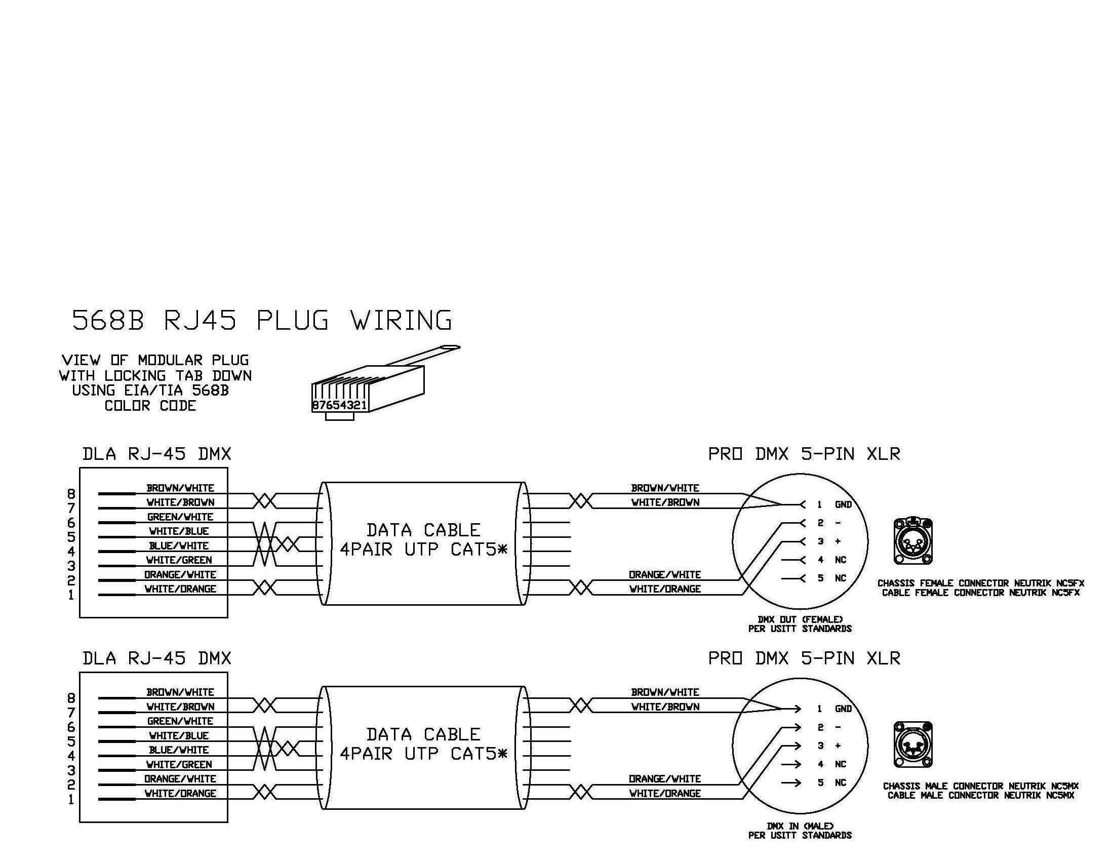 xlr to rj45 wiring diagram