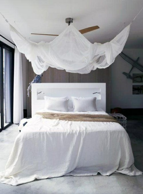 erstaunliche weiße Himmelbett Designs luftig bettwäsche kopfteil