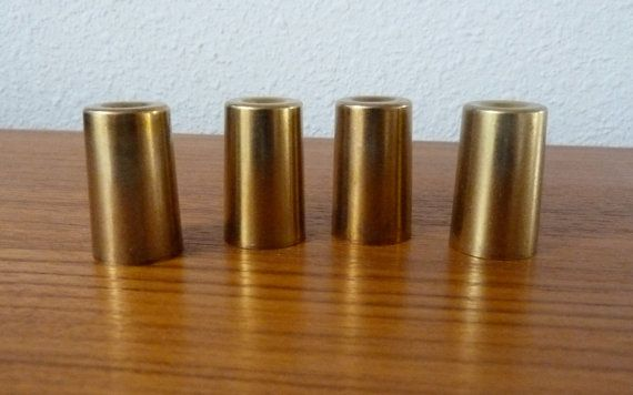 Vintage Brass Furniture 4 Peg Leg Feet Replacement Caps