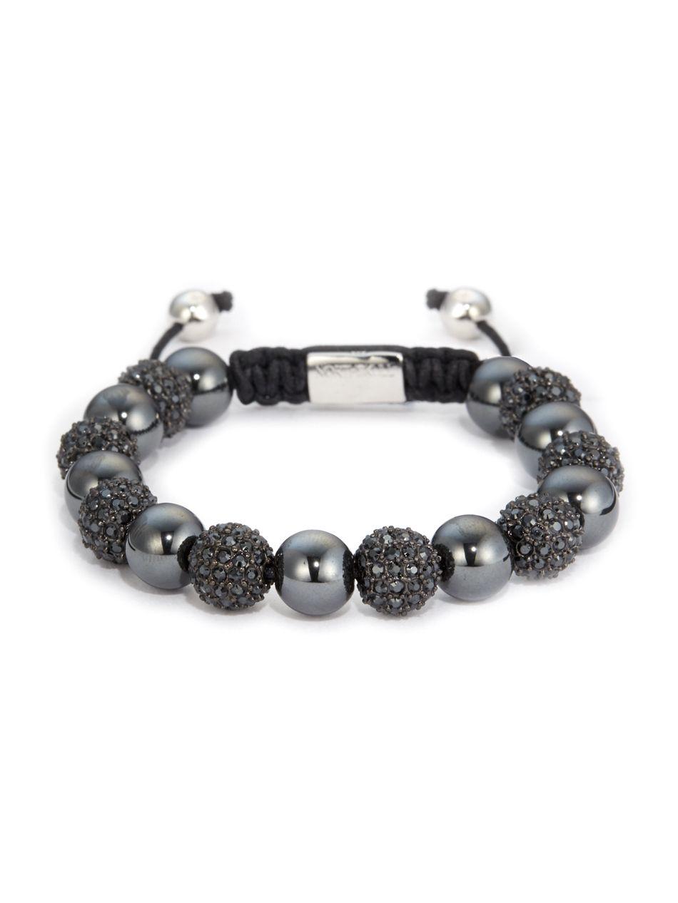 Hematite & Black Swarovski Crystal Bracelet From Northskull #jewellery # Bracelet #northskull