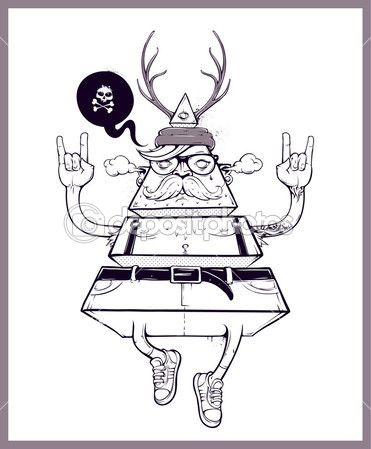 hipster triángulo dibujado a mano — Vector stock © seniors #30593021