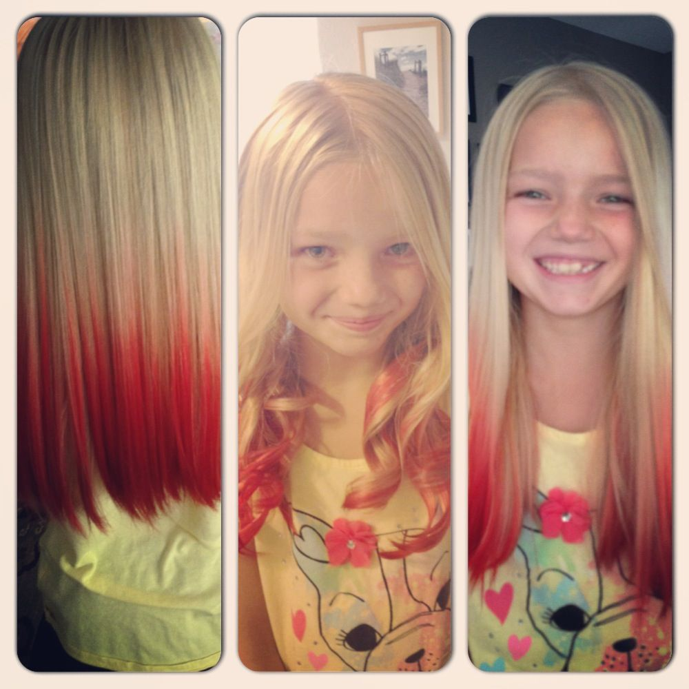 kool aid dip dye. turned