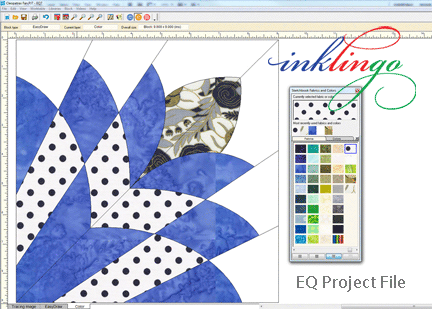 Free Cleopatra`s Fan Project File (Opens with Electric Quilt ... : quilt software free - Adamdwight.com