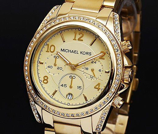 031ef7069 Michael Kors Mk5166 Blair Tono Oro Chronograph Mujer Reloj De Diseño RRP  £289   eBay