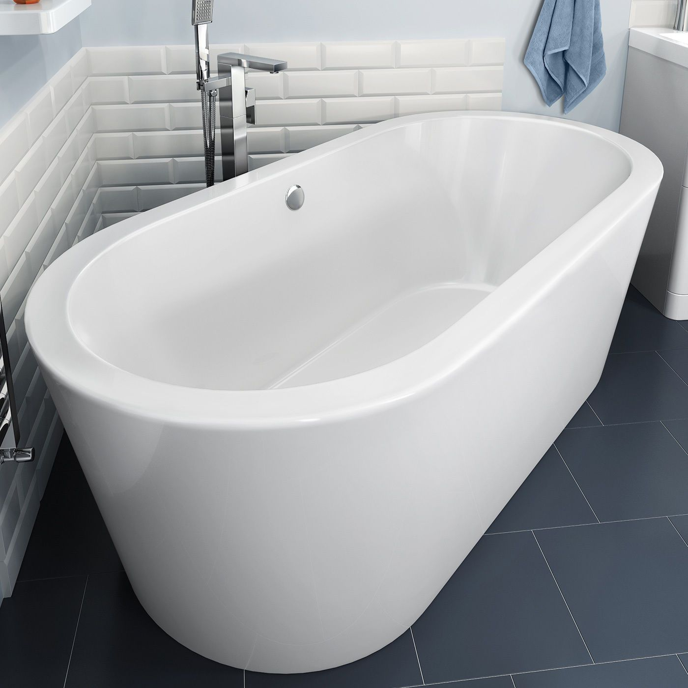 Modern Designer Baths Bathroom Freestanding Roll Top Luxury Large ...