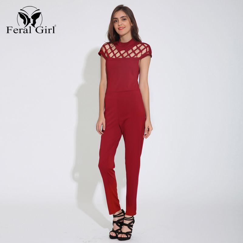 66af885a17d79 Women Sexy Hollow Jumpsuit Trousers 3 Colors