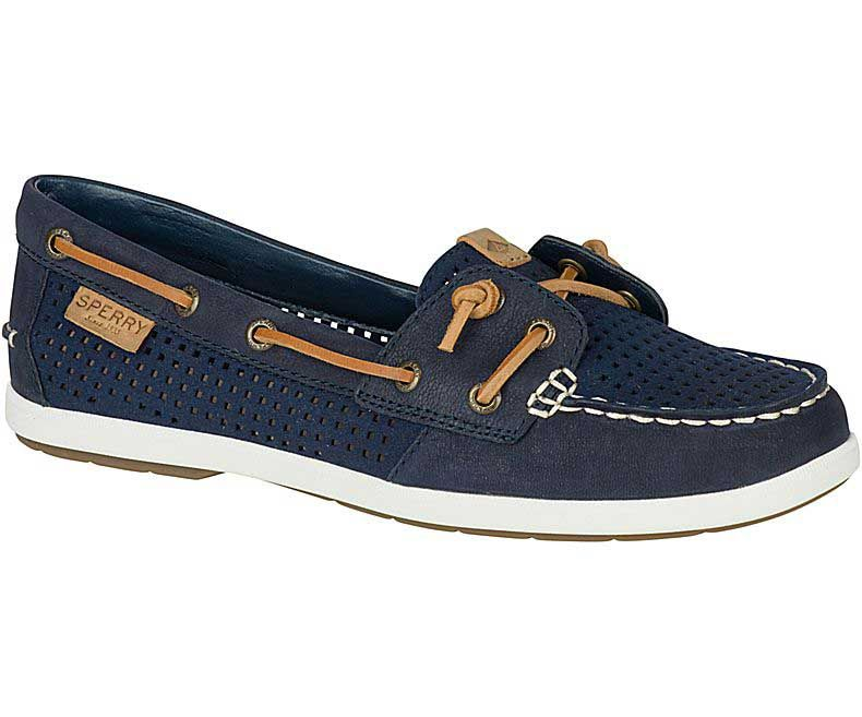 Retro Womens Sperry Top Sider Coil Ivy Boat Shoe Black online store