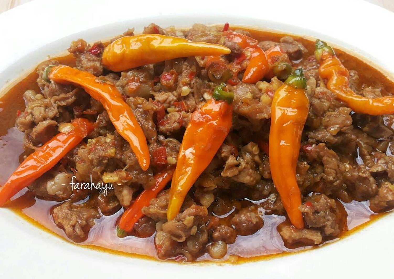 Resep Oseng Mercon Oleh Farah Ayu Resep Resep Makanan India Resep Masakan Resep Masakan Indonesia