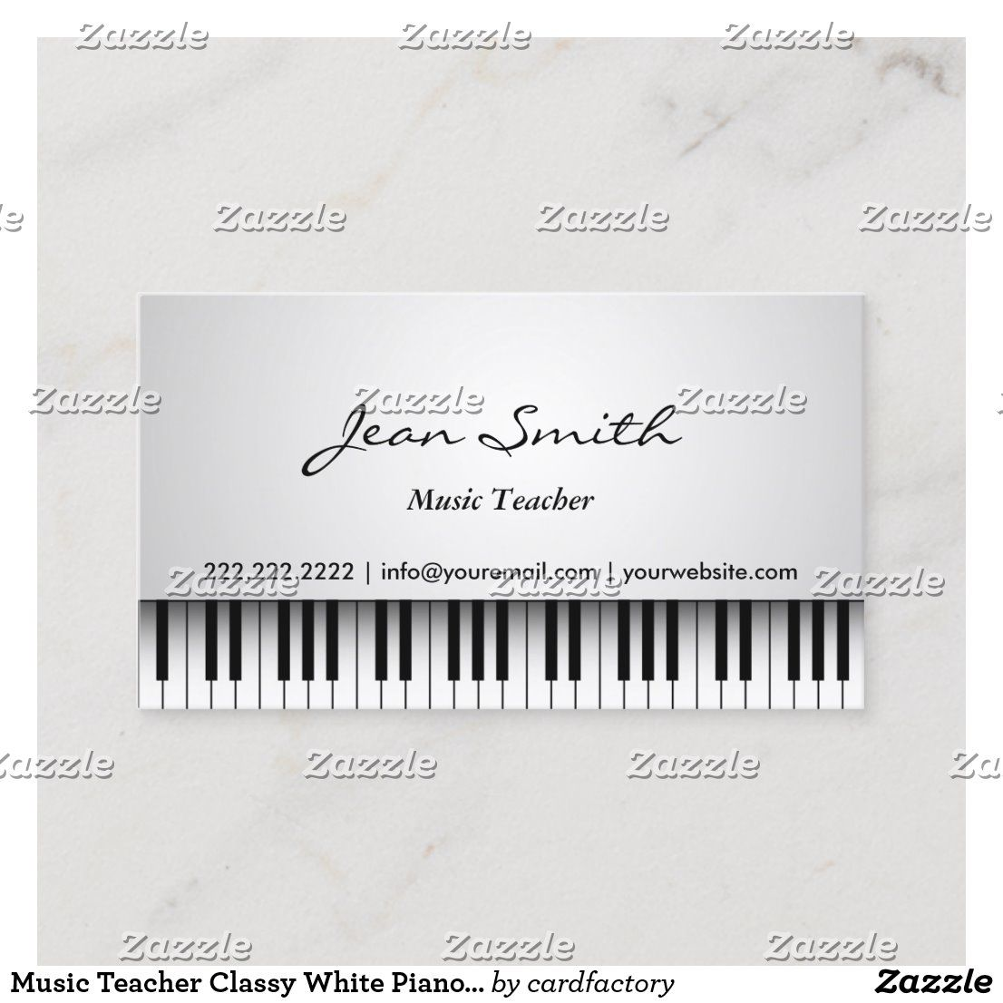 Music Teacher Classy White Piano Musical Business Card Zazzle Com In 2021 Music Teacher Teacher Business Cards Business Cards Creative Templates