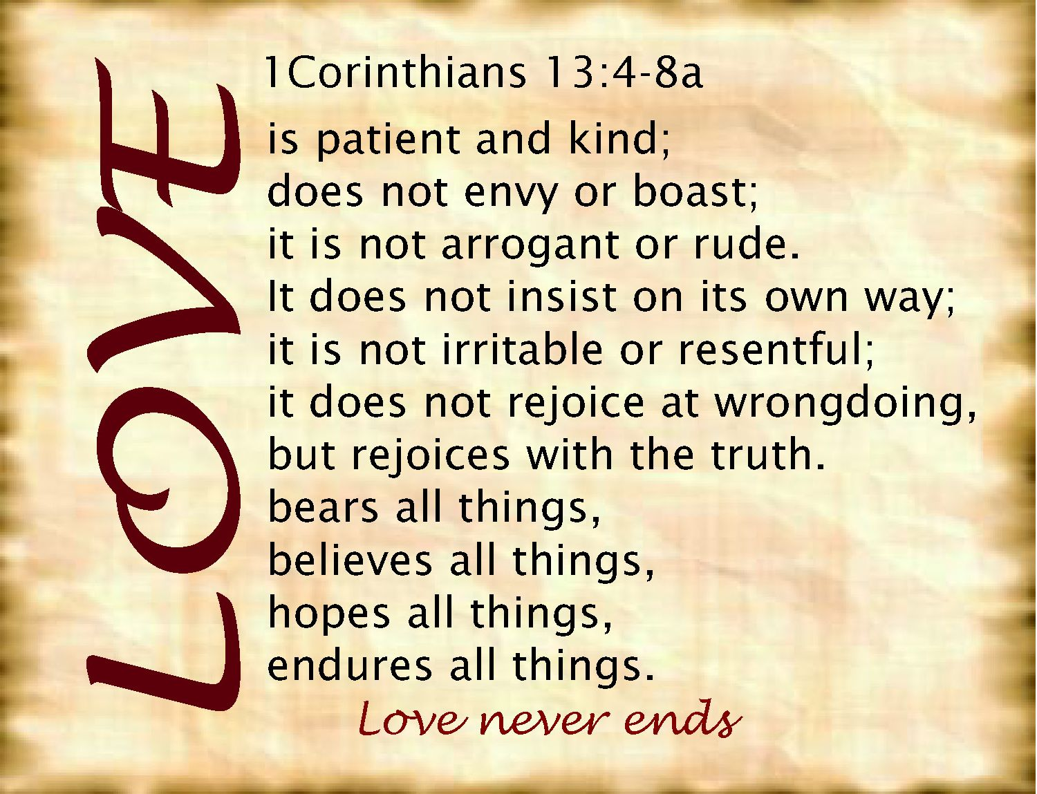 what is love the definition of love? 1 corinthians 13:4-8 | biblical