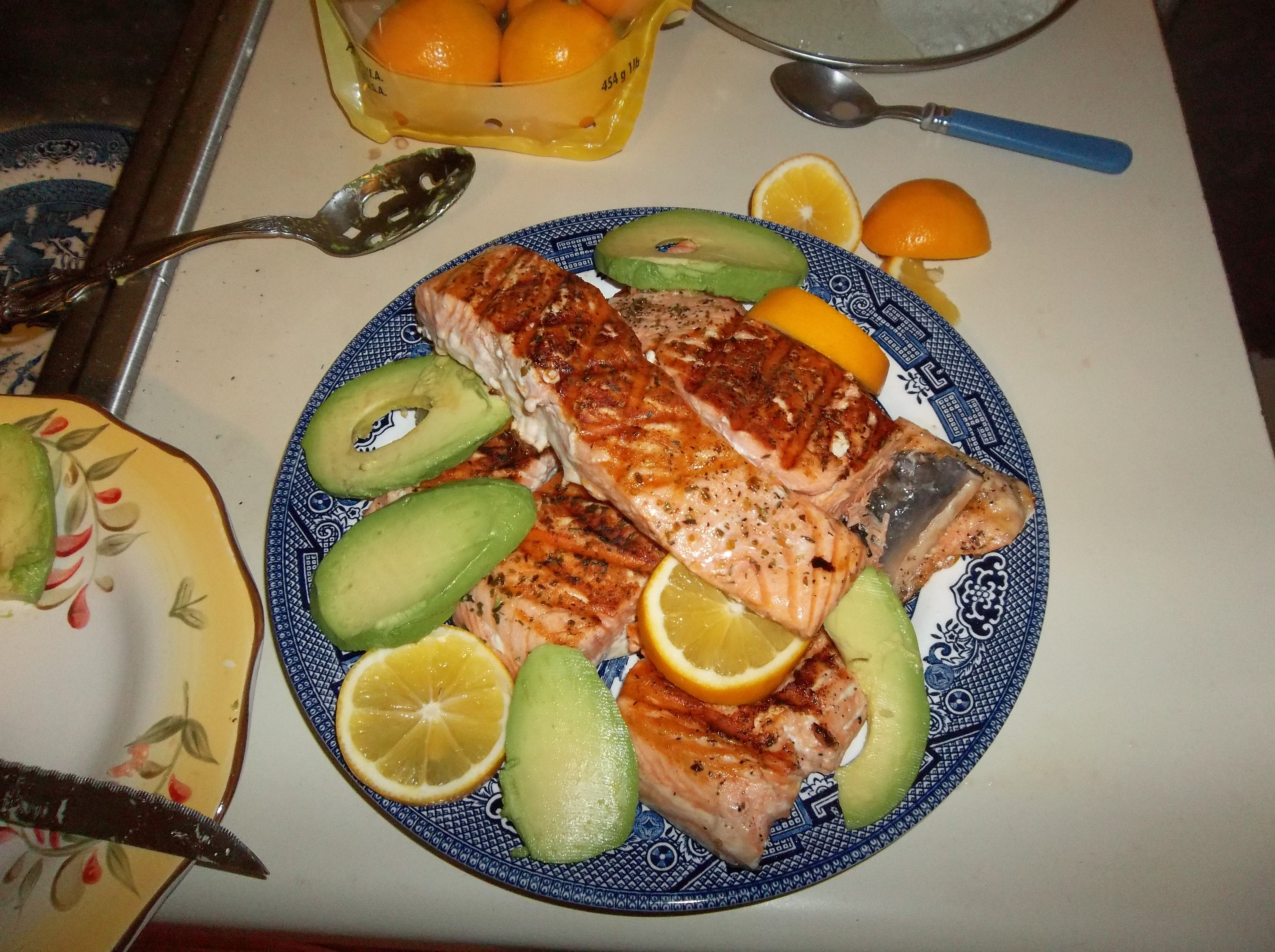 George Foreman Salmon Just brush up the salmon filets with ...