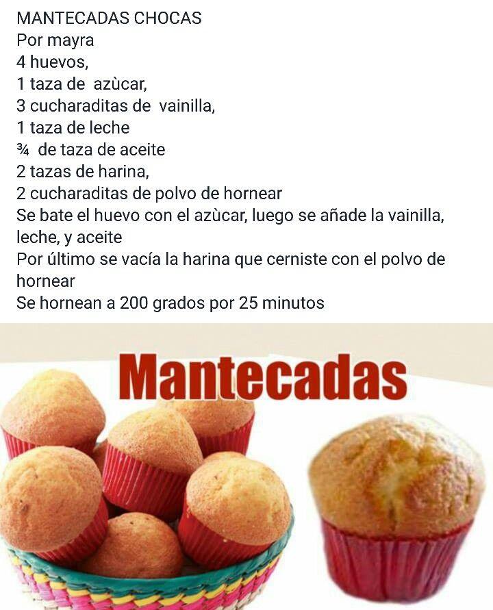 Mantecadas Recetas De Tartas Y Pasteles Mantecadas Reposteria Recetas