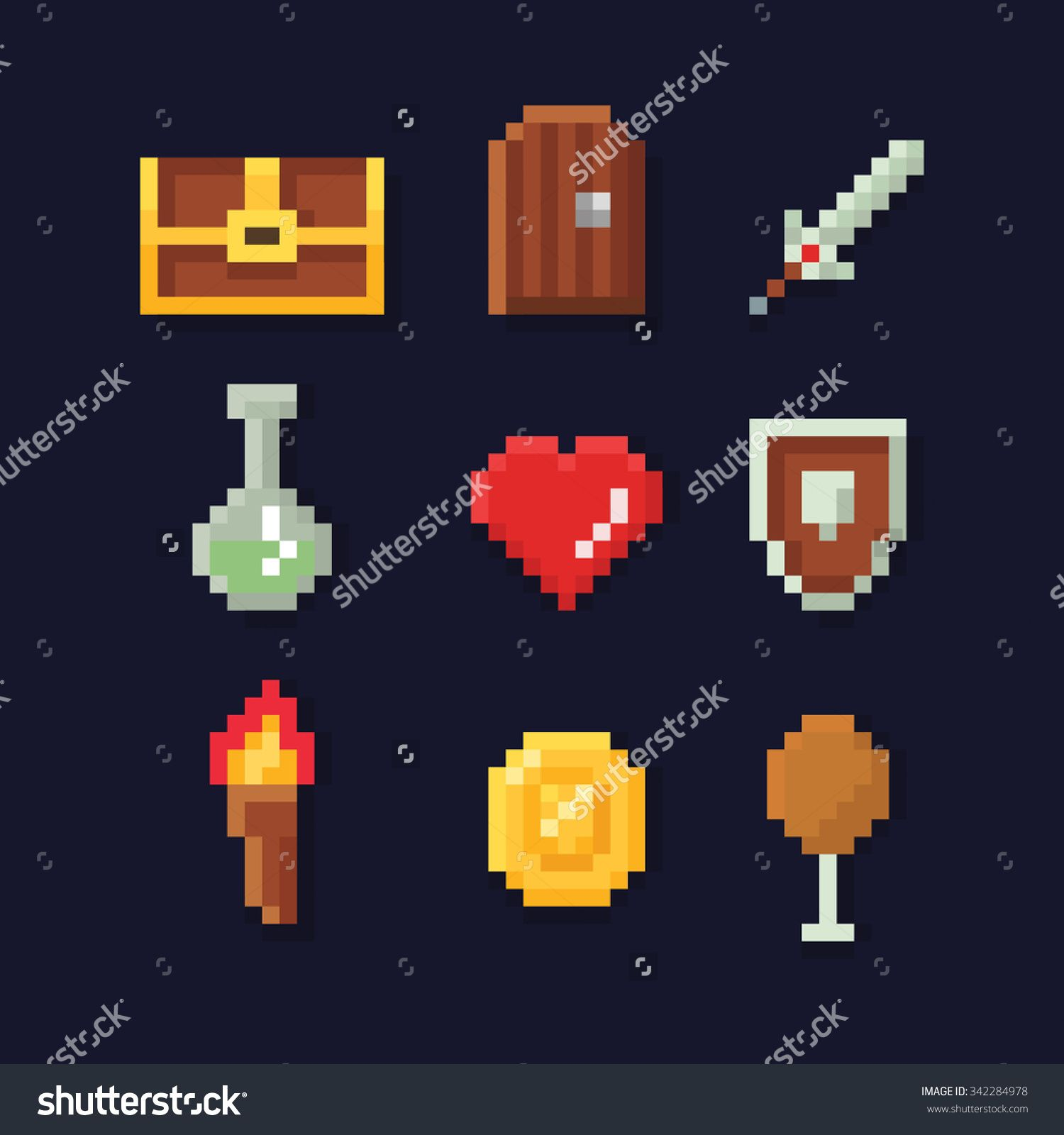 stock-vector-vector-pixel-art-illustration-isons-for-fantasy-adventure-game-development-magic-sword-food-342284978.jpg (1500×1600)