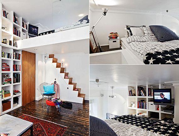 Kleine Wohnung Einrichten Mit Hochhbett Weiß_1 Raum Wohnung