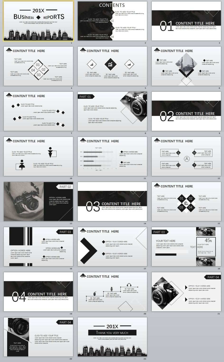 Gray Business Report Powerpoint Template  New Powerpoint