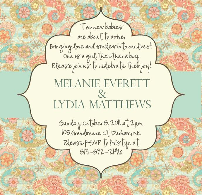 Twin Shower Invitations    Shower Party Invitation To Party
