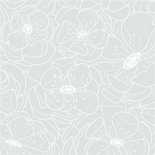 Anewall hibiscus modern classic delicate soft blue floral wallpaper kathy kuo home also rh in pinterest