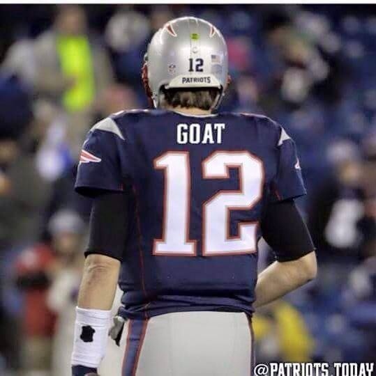 da478735 Best of all time and he's OUR Quarterback #TomBrady GOAT= Greatest of All  time